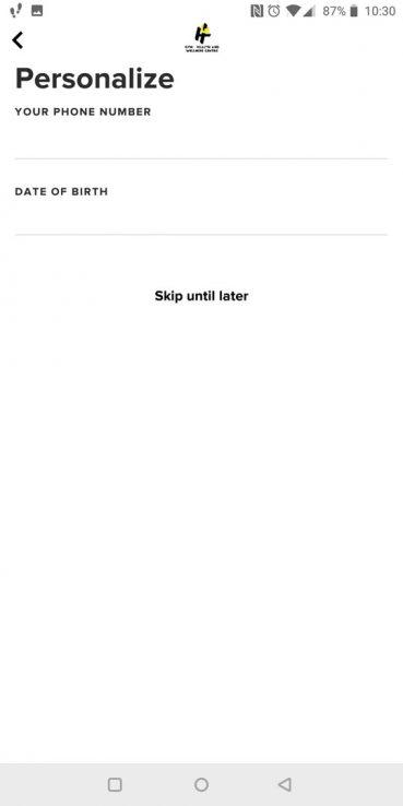 Glofox App Setup